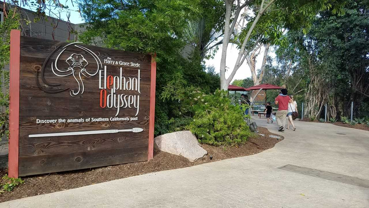 entrance to Elephant Odyssey sign